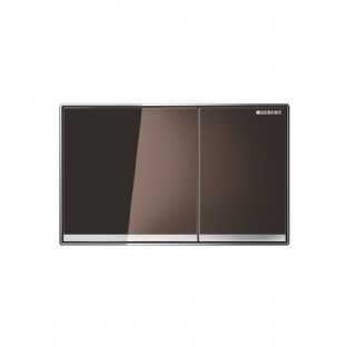 Geberit Sigma60 Umber Glass Dual Flush Plate - 115.640.SQ.1